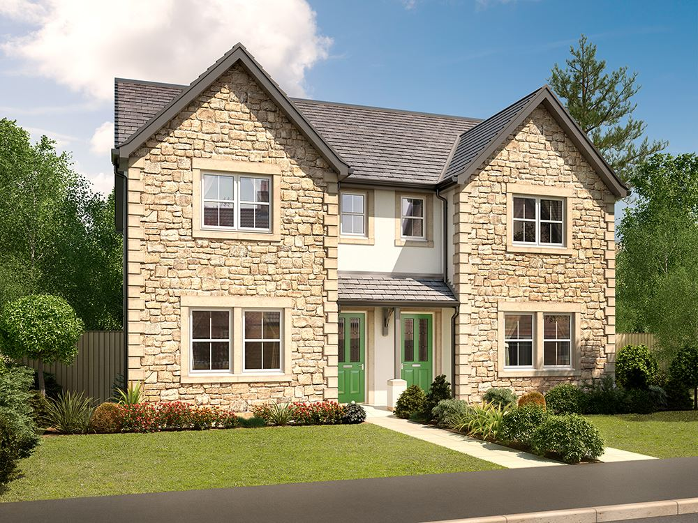 Plot 180 three bedroom semi detached for sale lancaster for New two story homes