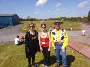 Story staff zip slide to fundraising and fancy dress success for hospice