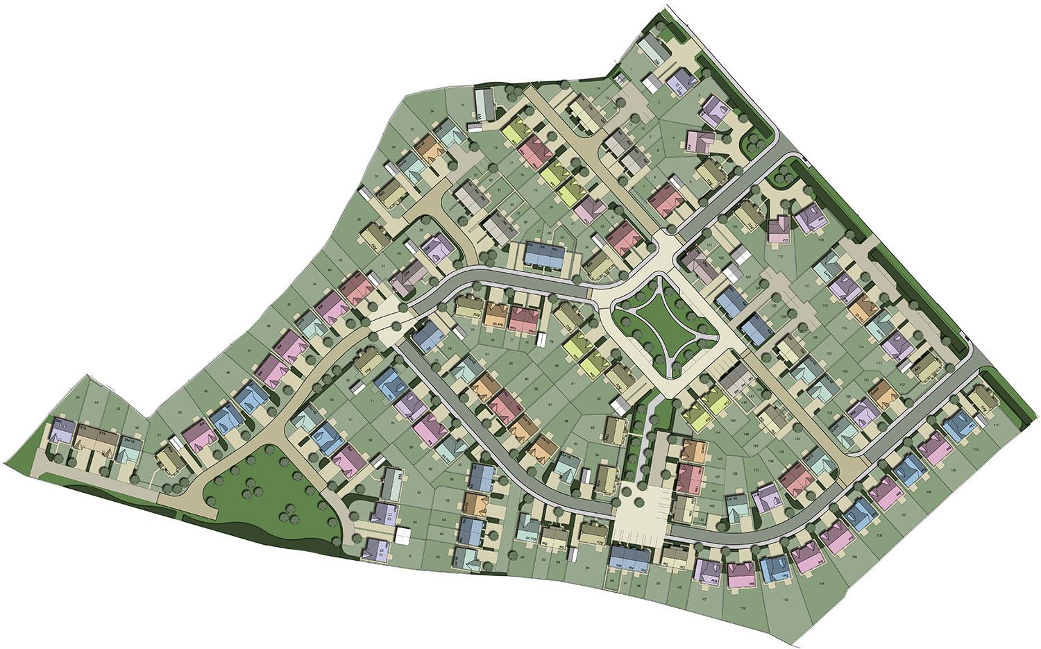 New houses for sale stainburn in workington ca14 1xp for Home site plan