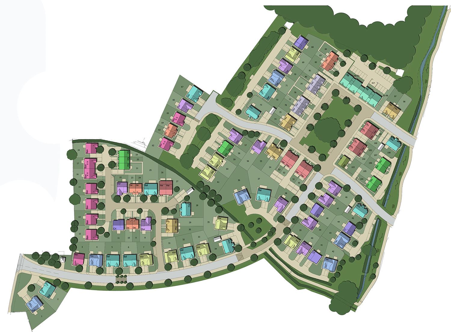 New houses for sale at carlisle ca2 4qw for Home site plan