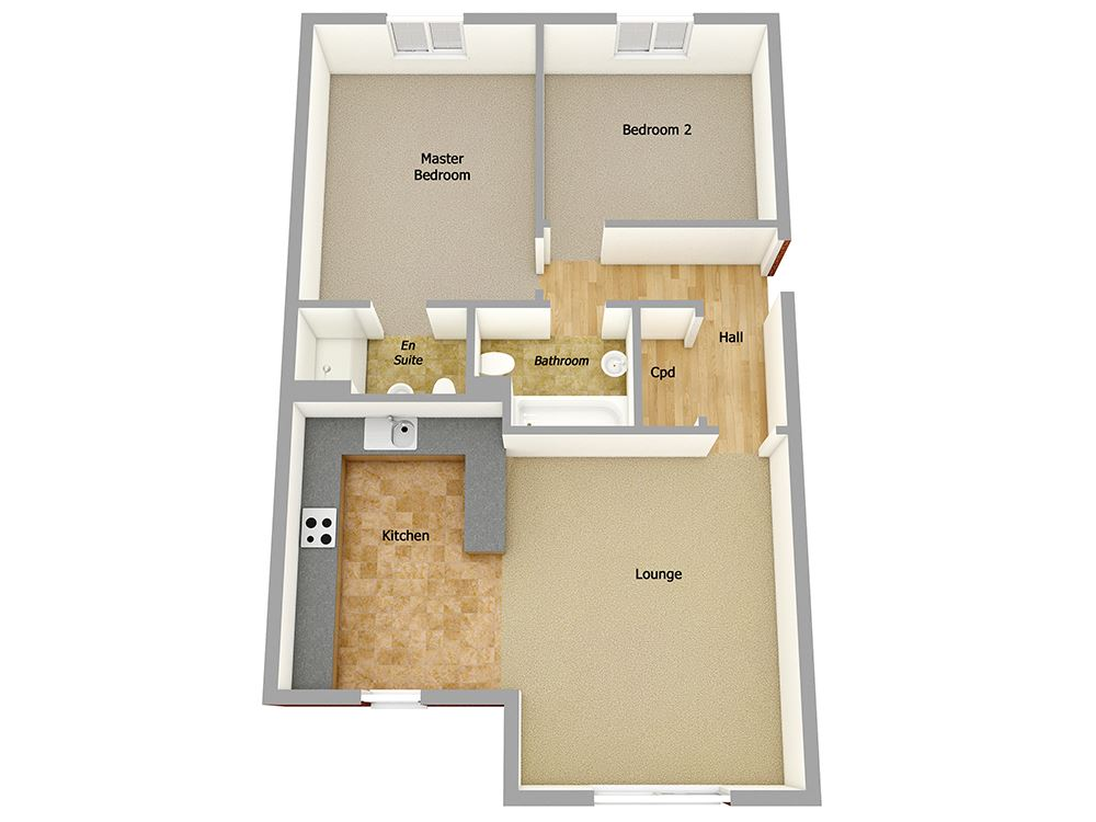 Plot 86 two bedroom house for sale dalston ca5 7lr for Marlborough house floor plan