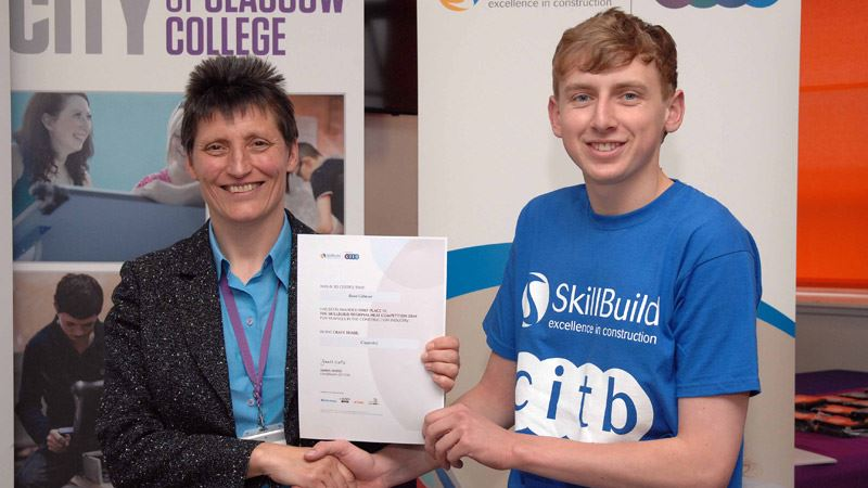 Ryan Gilmour won the SkillBuild joinery competition<span>13/15</span>