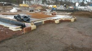 Biggar show home foundations 1
