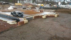 Biggar show home foundations 1