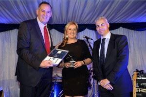 Jane Graham, Sales Executive collecting her STAR Award