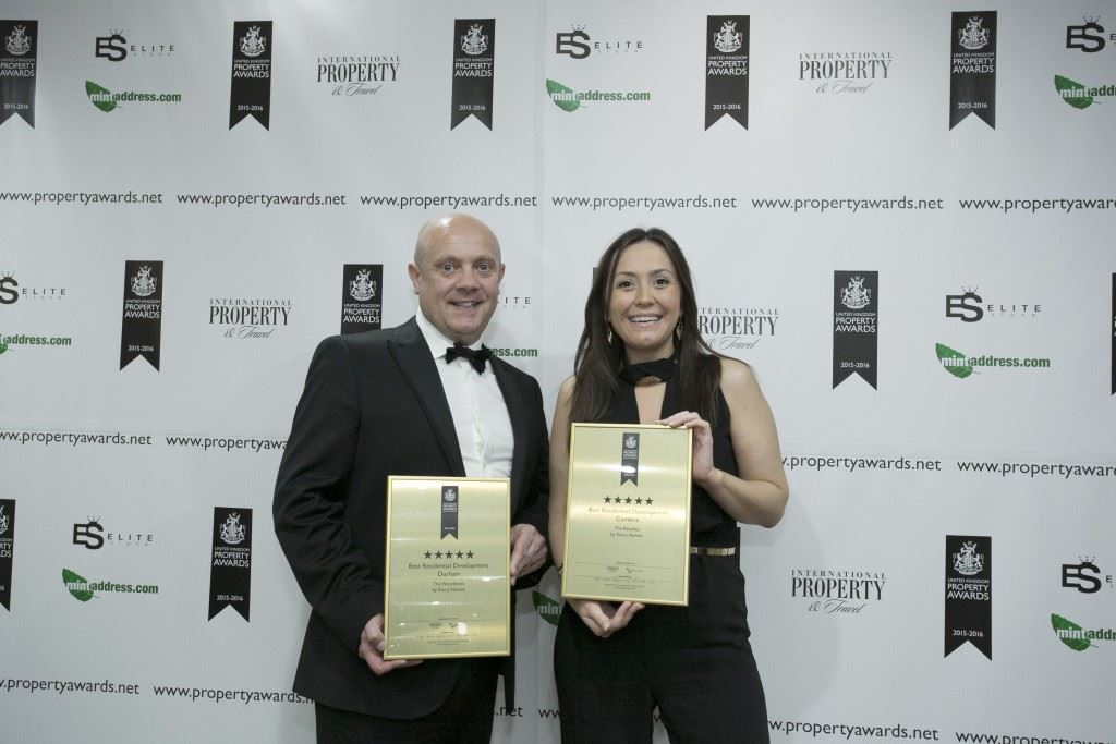 Julian Bulman, Production Manager North East and Hayley Blair, Sales Manager Cumbria picked up the awards