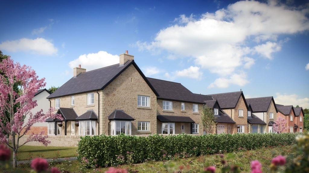 A computer generated image of the new homes in Clitheroe