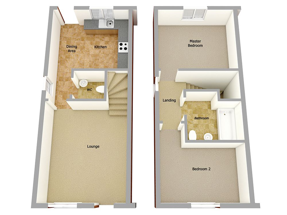 Plot 41 Two Bedroom Semi Detached For Sale Galgate La2 0jy
