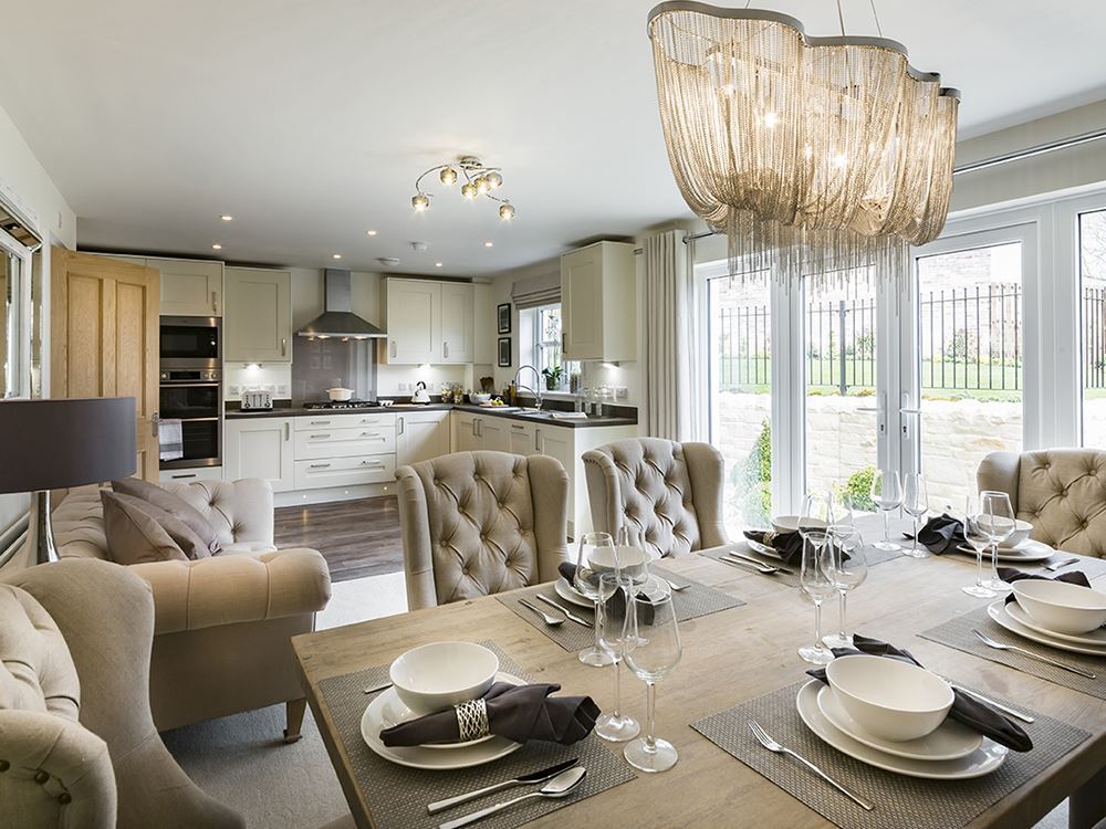 Show home now open at the silks lancaster for Show home living room designs
