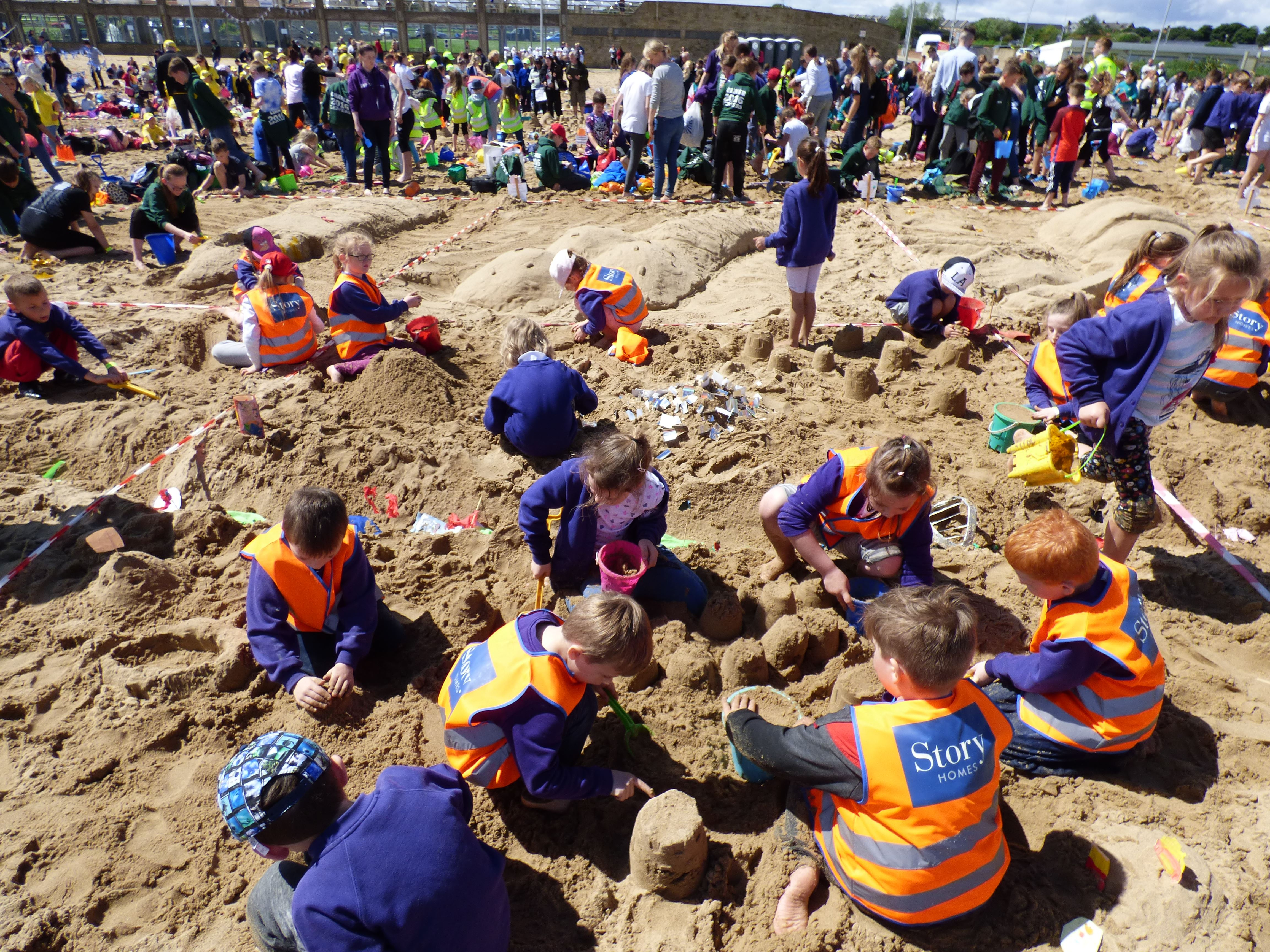 Story Homes Supports Children North East S Sandcastle