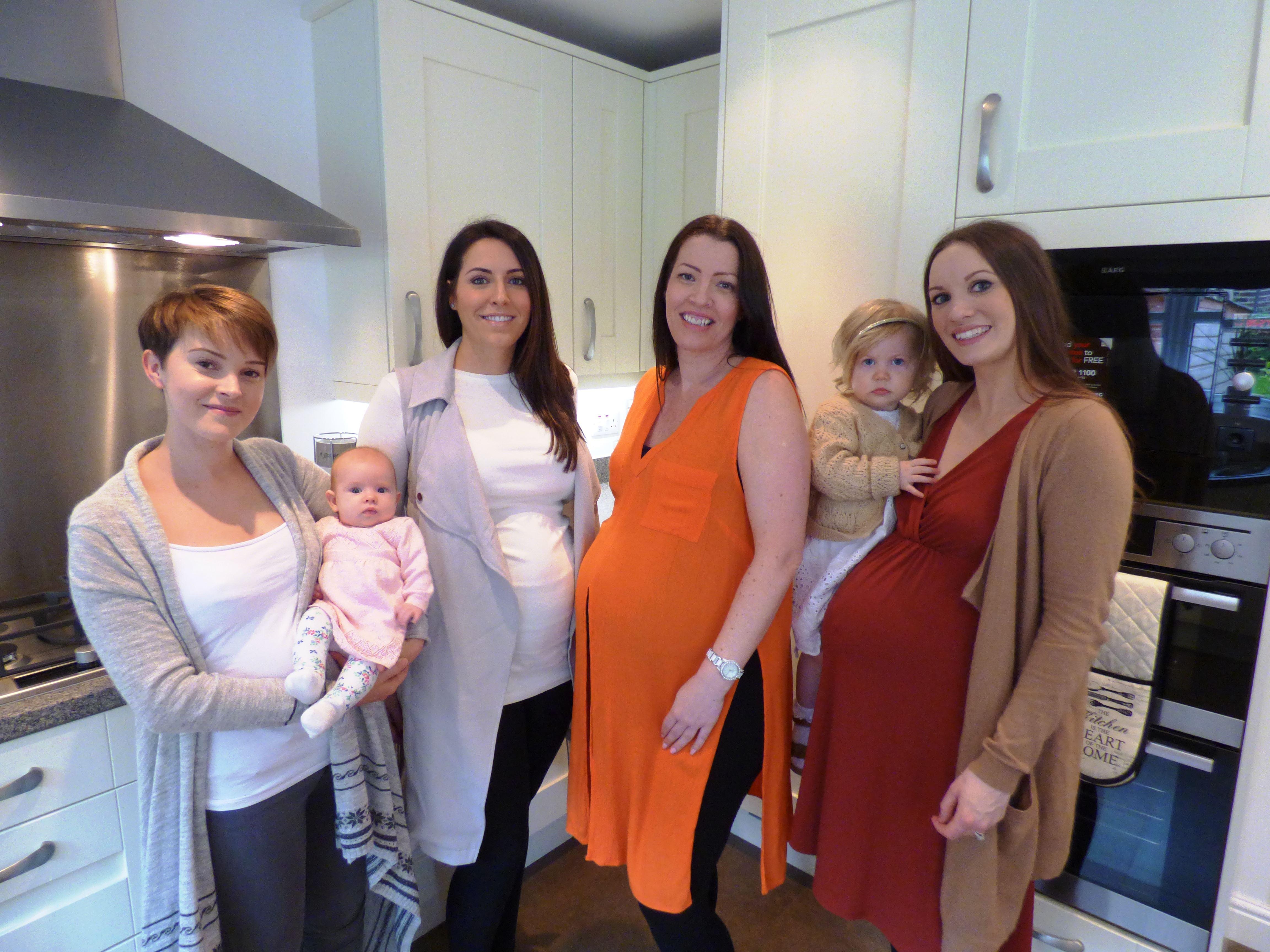 Poppy Jones with Ella Jones, Laura Charlton, Vicky Robinson, Marie-Claire Watson