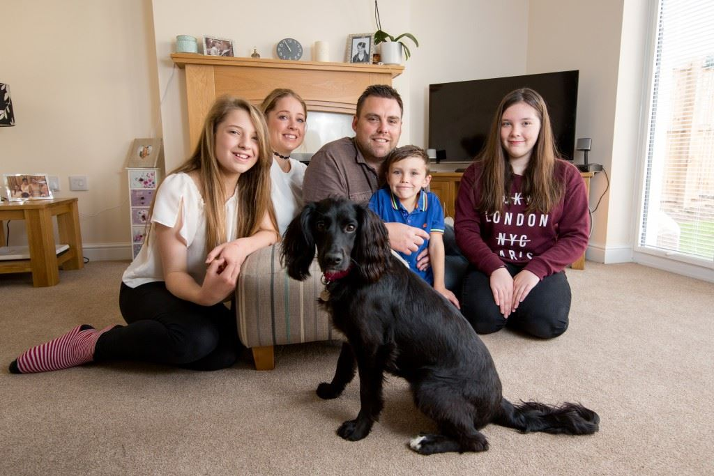 the-smith-family-at-high-wood-l-r-eve-kelly-joe-joseph-annie-and-betsy-the-dog