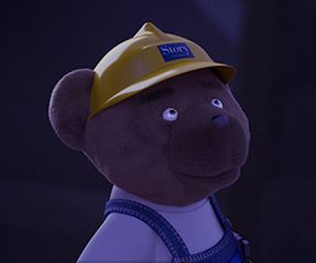Filming with Builder Bear