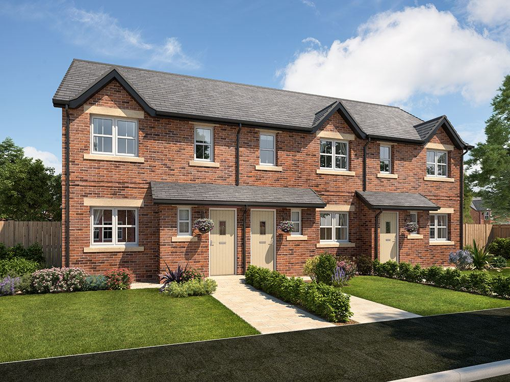 Plot 203 three bedroom semi detached for sale carlisle for Three story house for sale