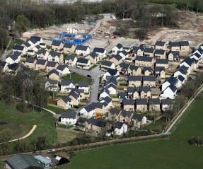 Bird's eye view of High Wood in Lancaster