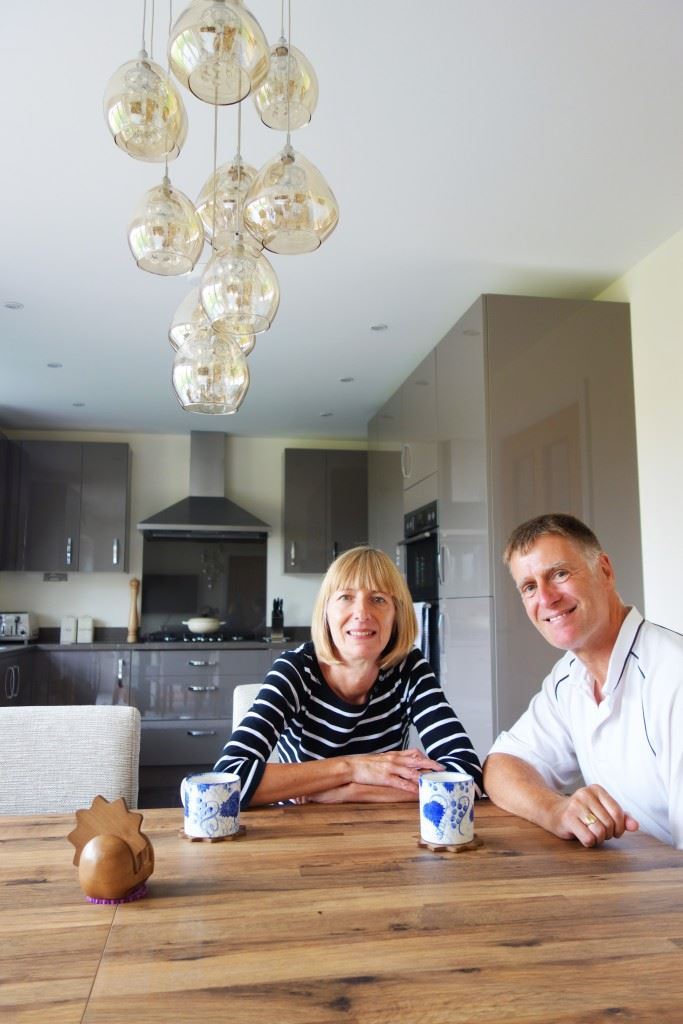 Briand and Nicky Carey in the kitchen of their four-bedroom detached Boston