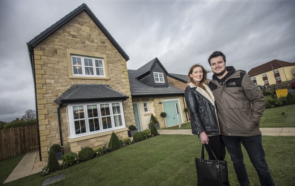 First-time buyers Hannah and Clarke reserved a four-bedroom Taunton