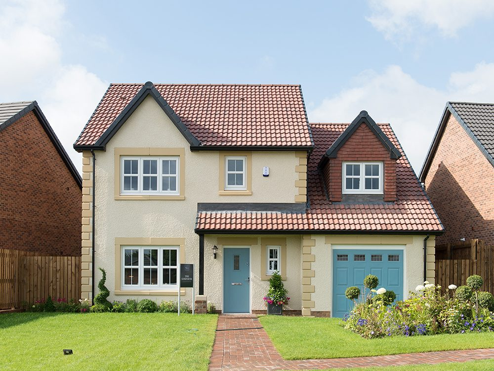 The Gosforth show home at Brookfield Woods, front-facing external image