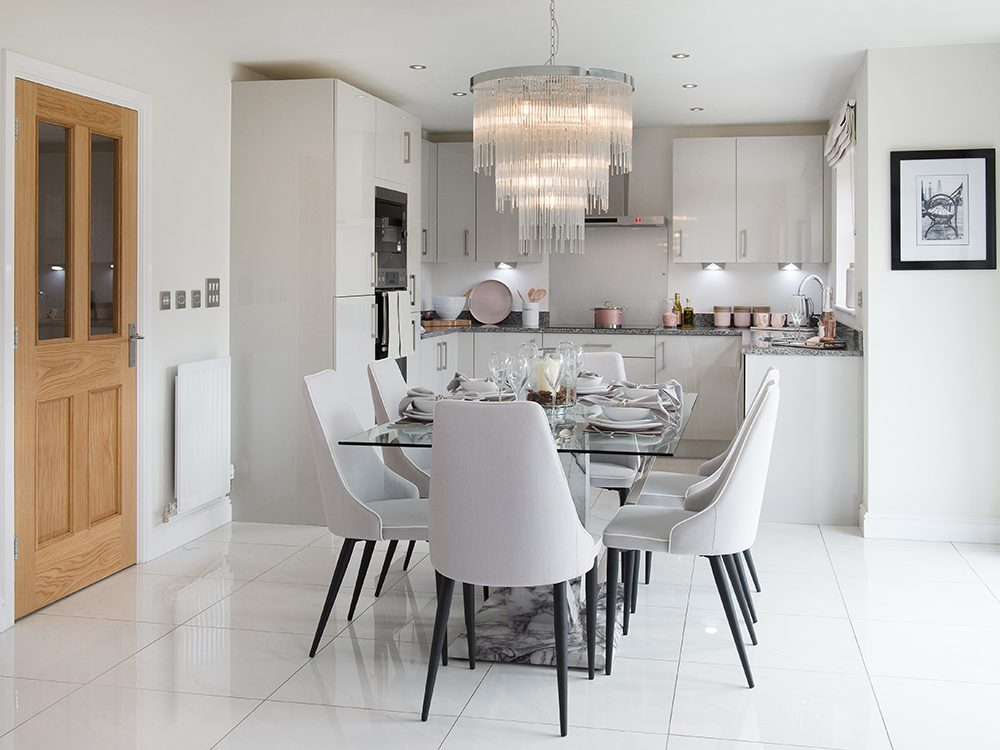 The Gosforth show home at Brookfield Woods, kitchen-diner