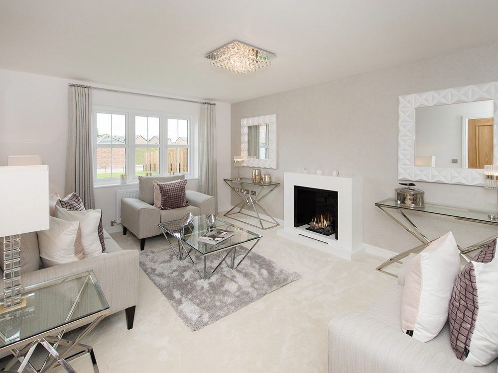 The Gosforth show home at Brookfield Woods,lounge