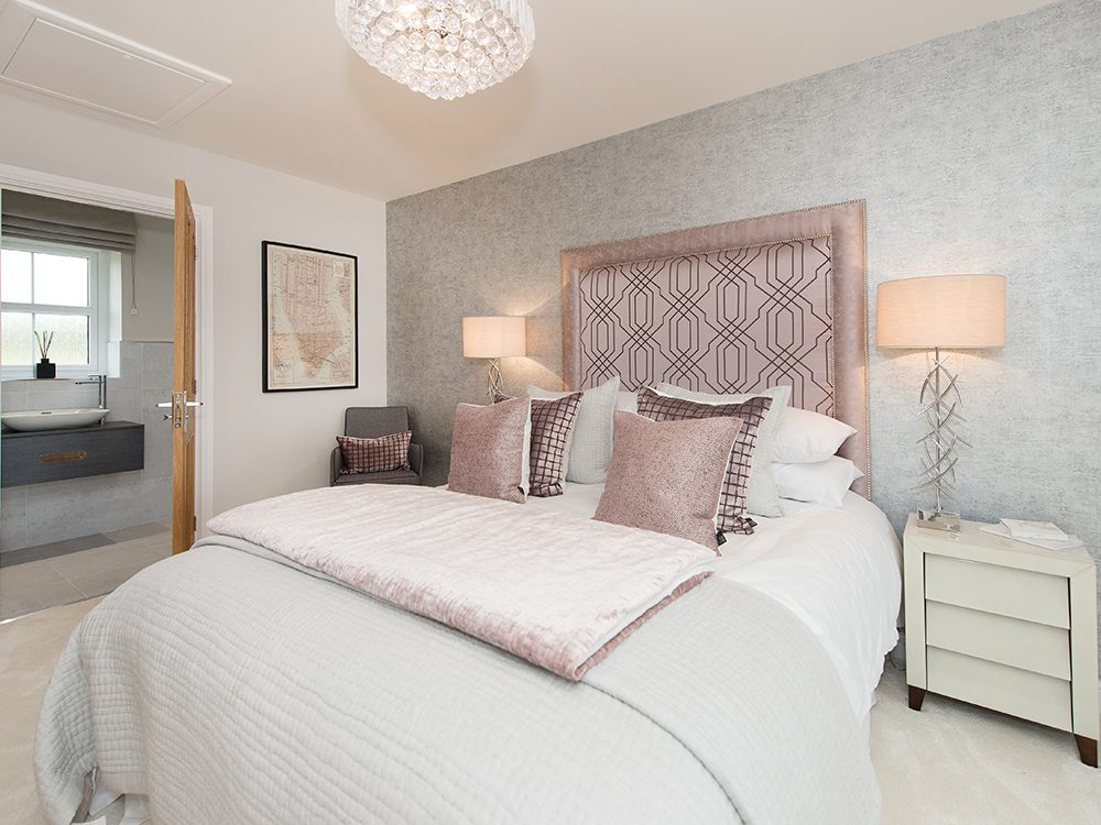 The Gosforth show home at Brookfield Woods, master bedroom