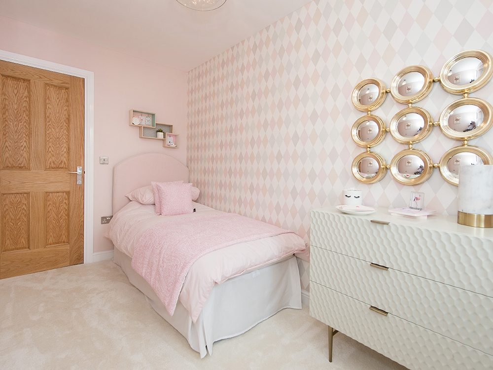 The Gosforth show home at Brookfield Woods, child's bedroom