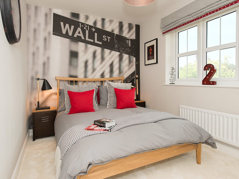 The Gosforth show home at Brookfield Woods, bedroom
