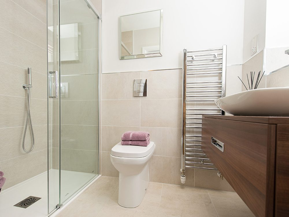 The Gosforth show home at Brookfield Woods, main bathroom