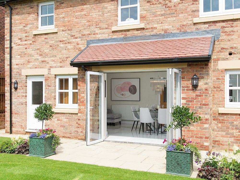 The Gosforth show home at Brookfield Woods, rear-facing external image