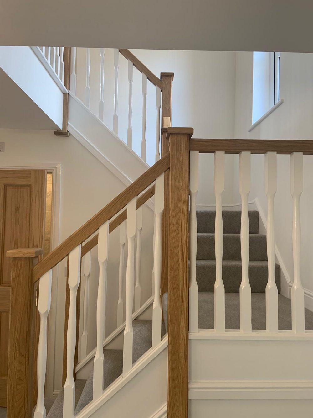 The Cambridge view home, stairway