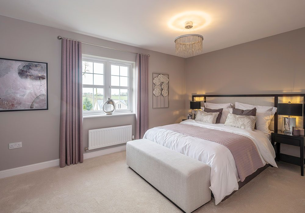 Guest bedroom in the Graham at Kinmont Rise, Scotby