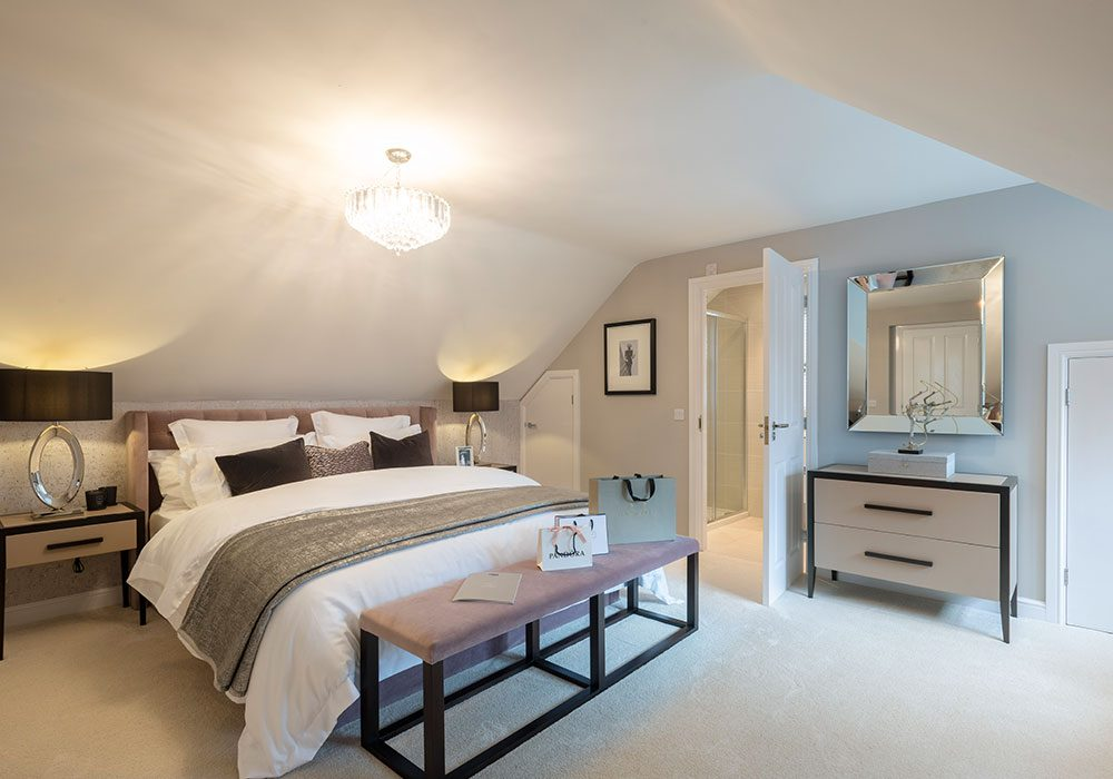master bedroom in the Graham at Kinmont Rise in Scotby