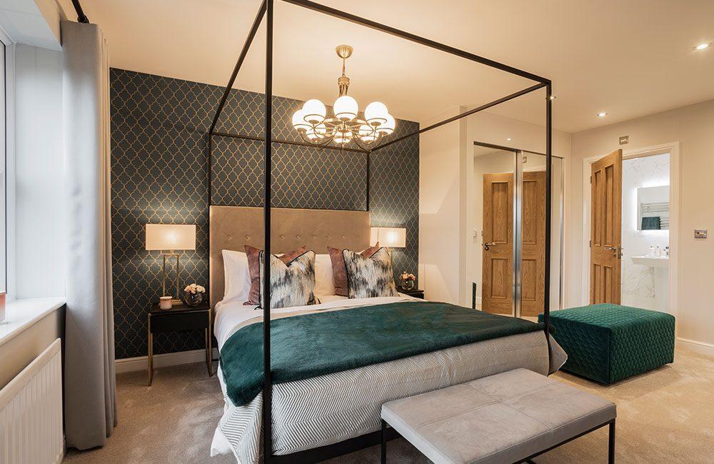 Charlton master bedroom at Heaton Green