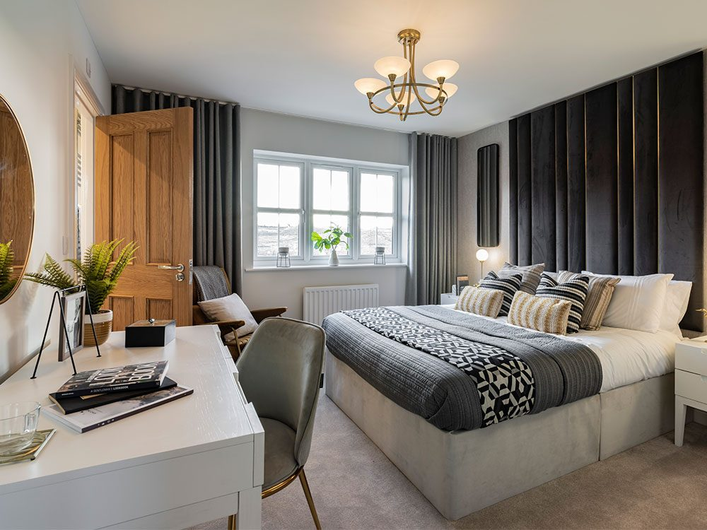 The Pearson master bedroom